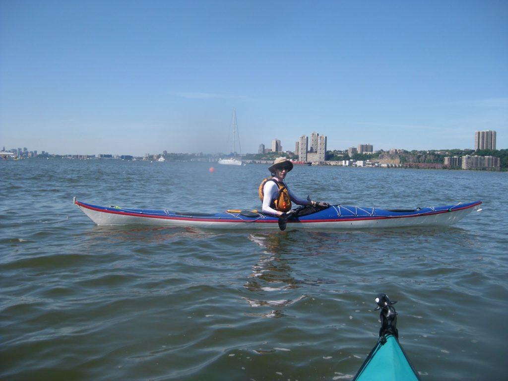 Kayak Cowgirl, Argonaut, Hudson River NYC.