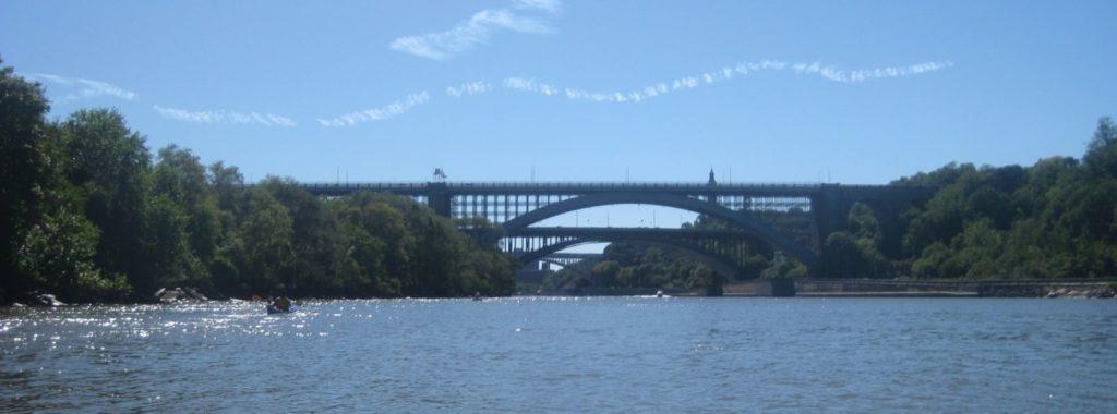 High, Washington, and Hamilton Bridges.