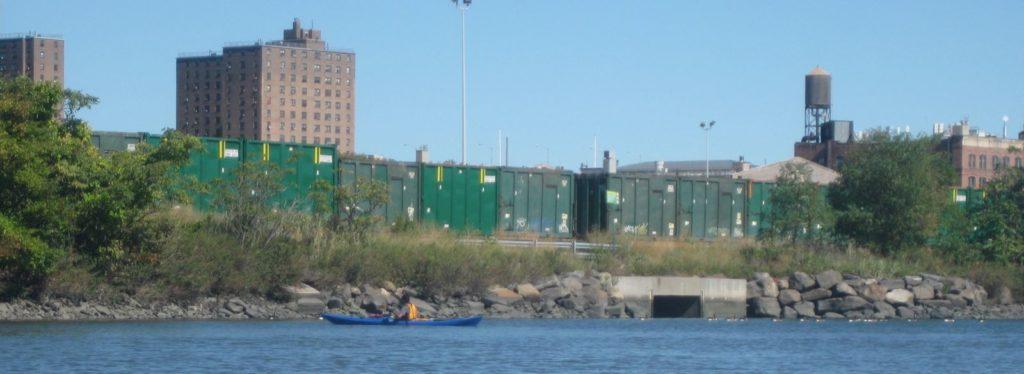 Rails on the Bronx Kill.