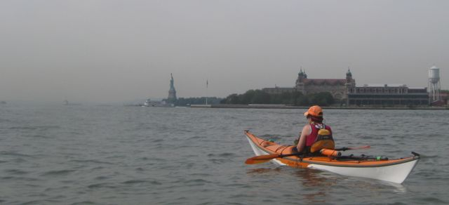 CL in her kayak.