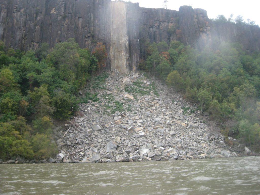 Landslide on the Palisades.