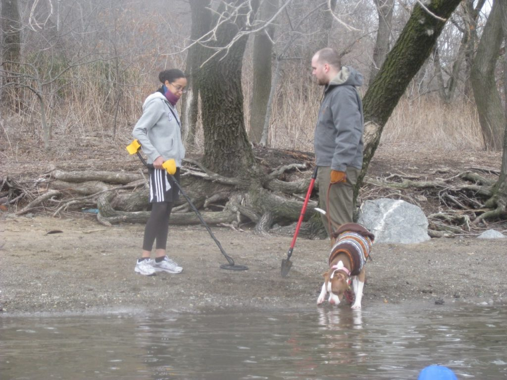 Dog walkers at Swindlers Cove.