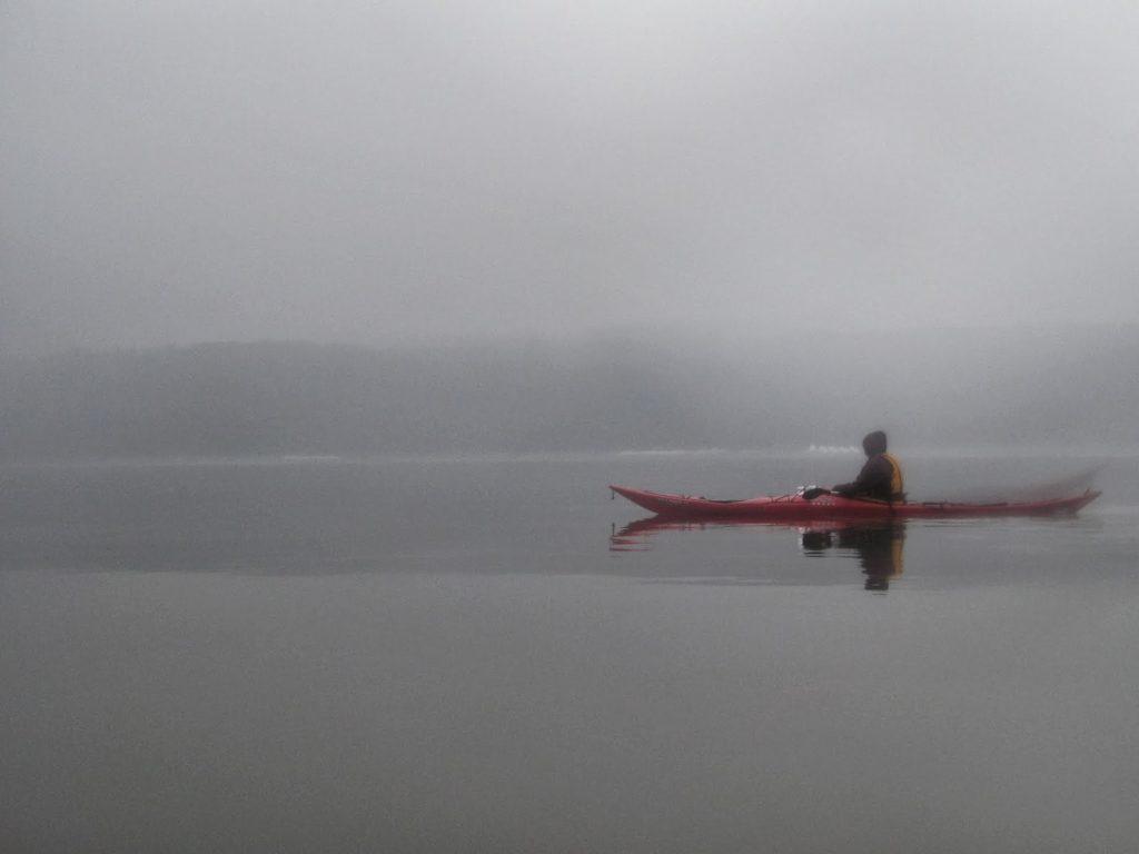 Kayaking on Glass.