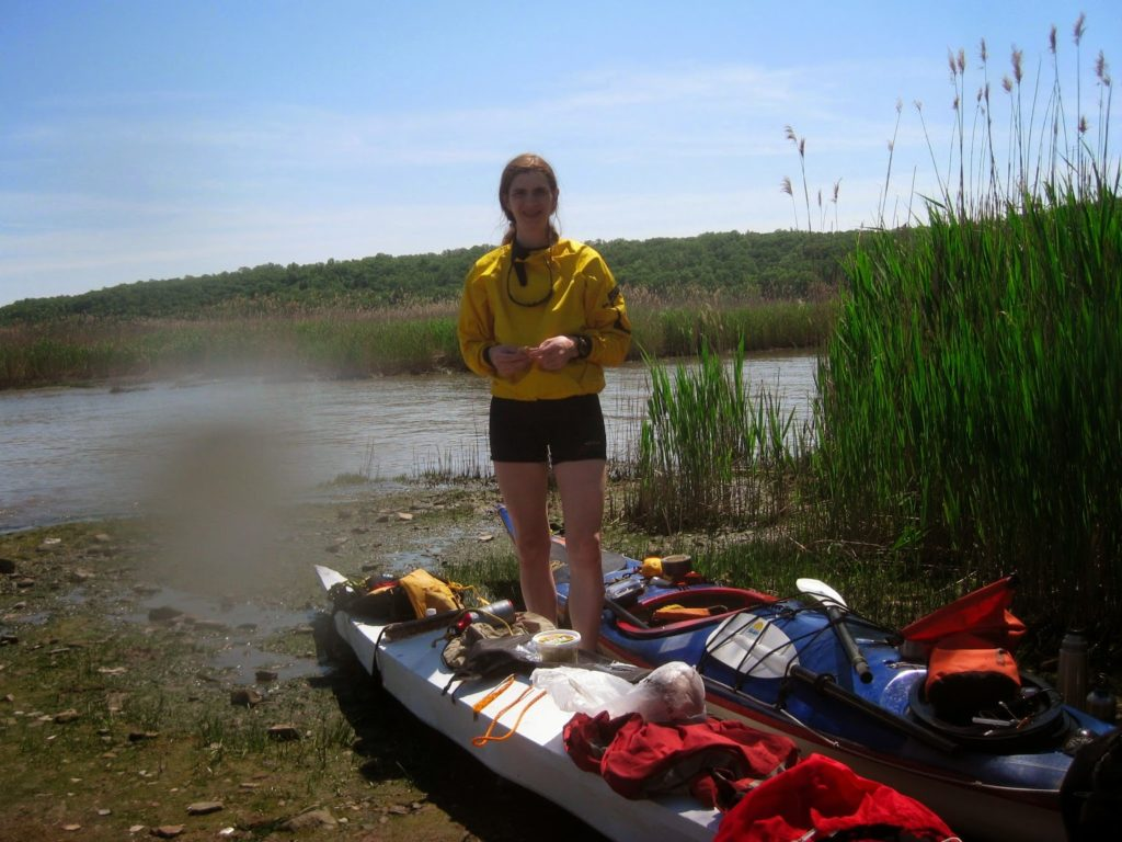 Kayak Cowgirl, Piermont.