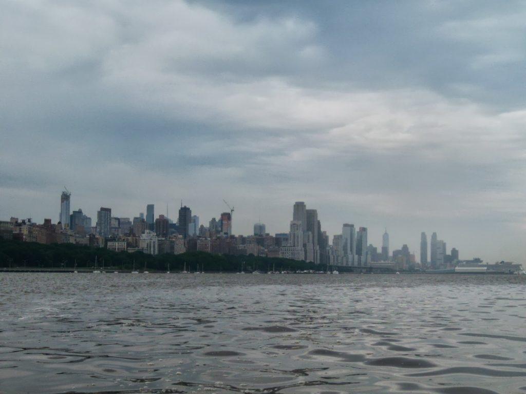 Looking at Manhattan.