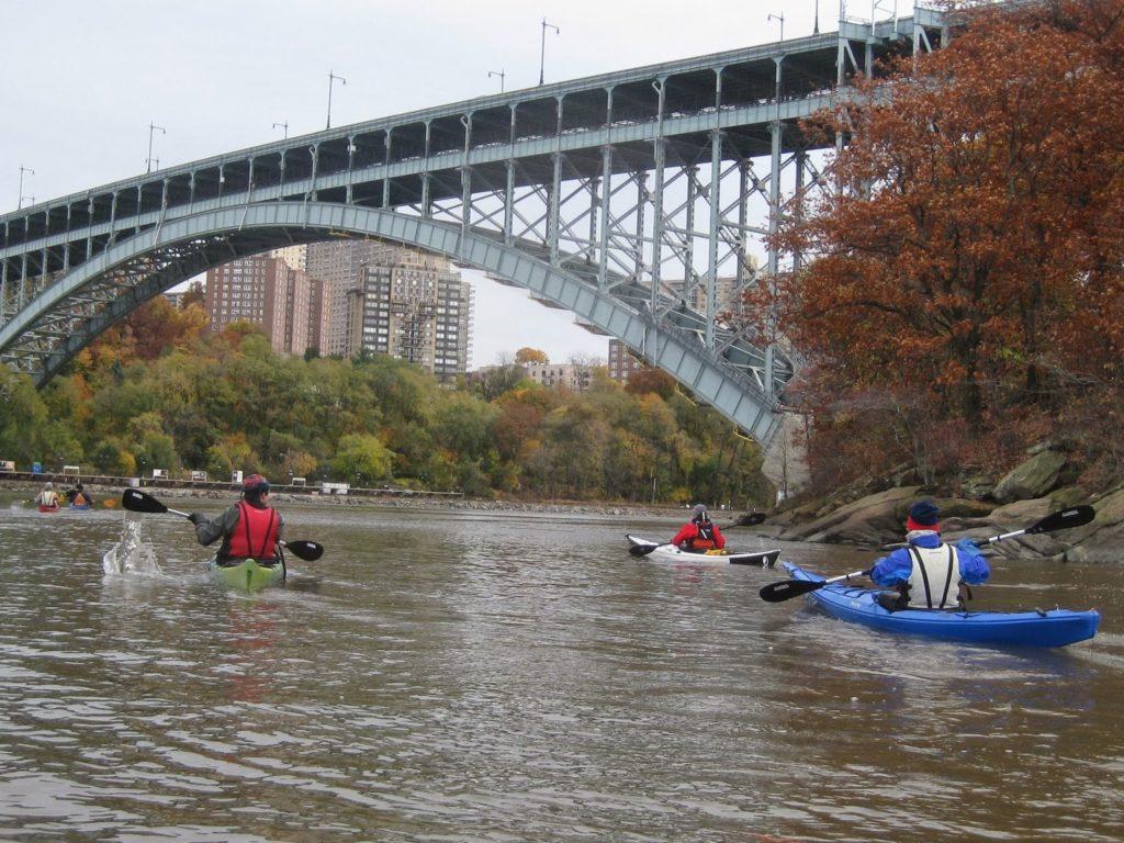 Approaching Henry Hudson Bridge.