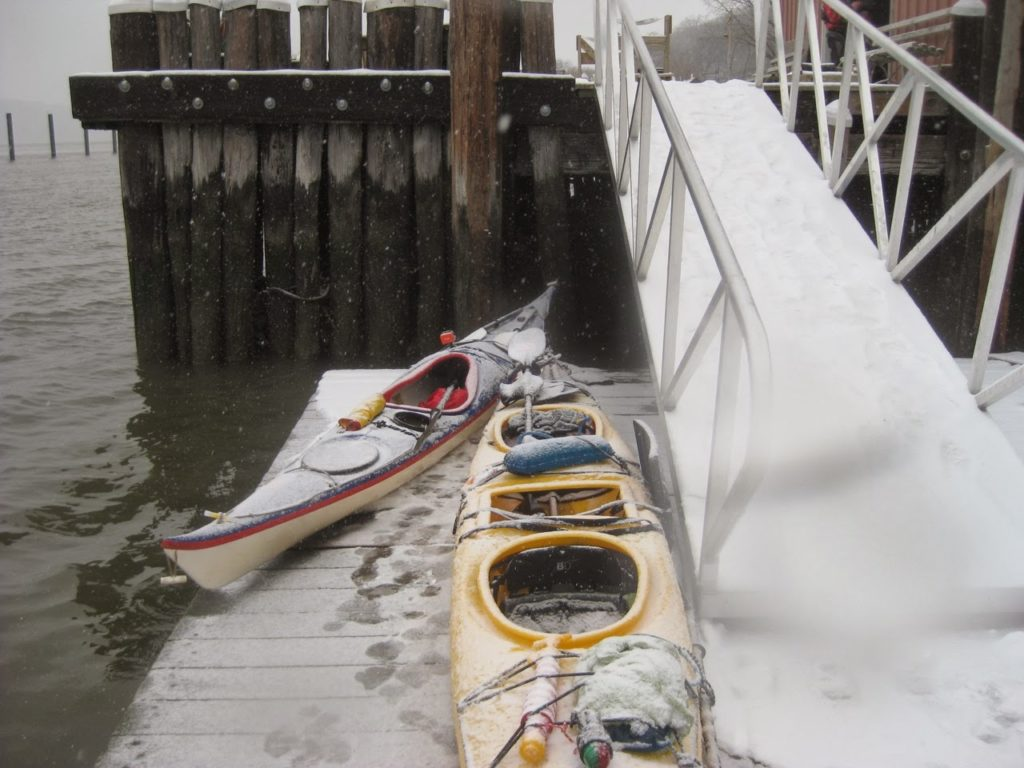 Boats in the Snow.