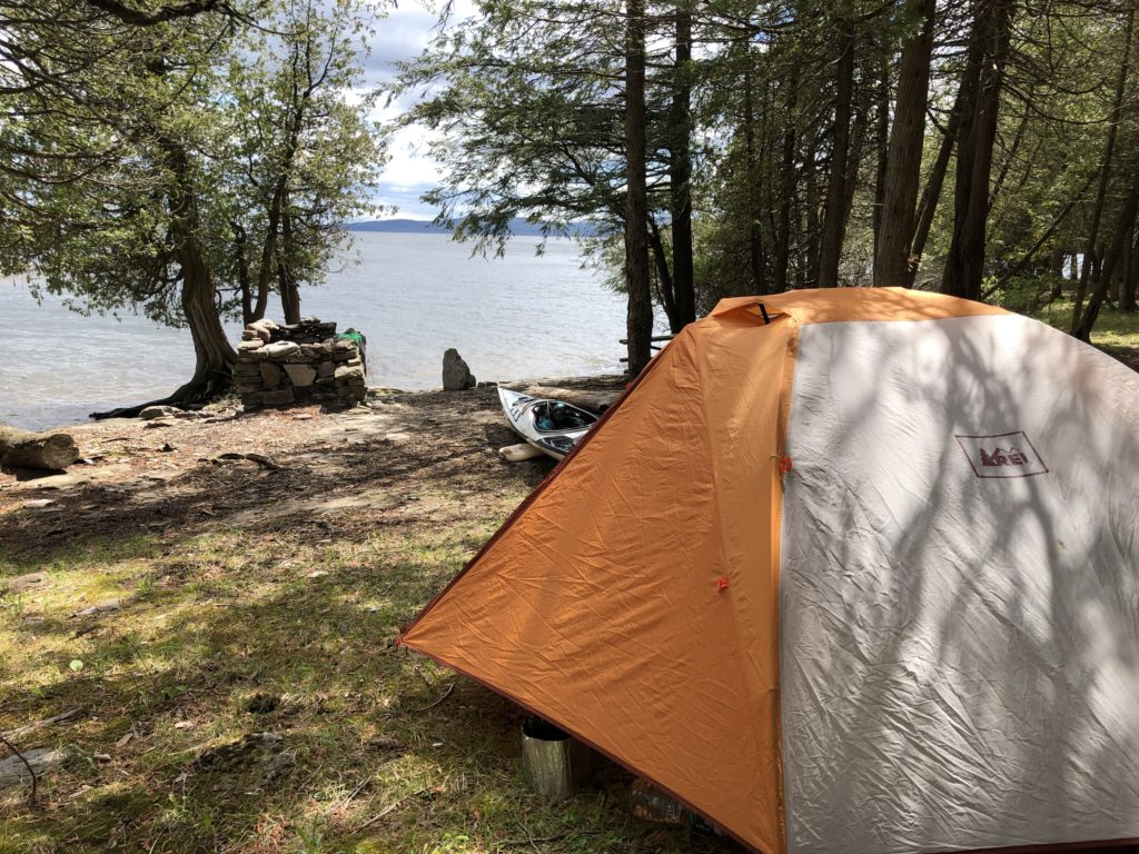 Camp at Valcour Island.