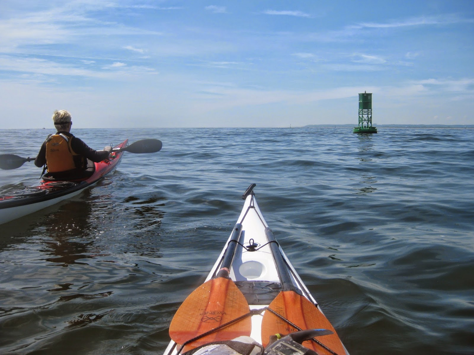 Approaching a Buoy.