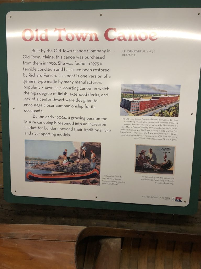 Old Town Canoe Text