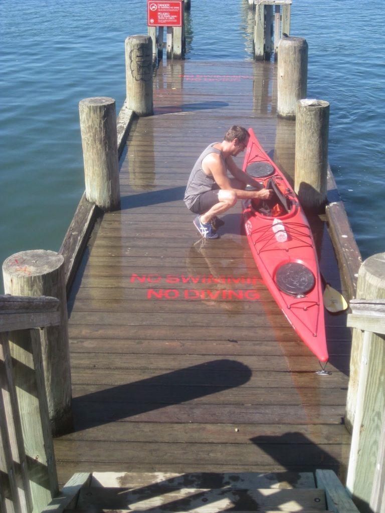 Break at Flushing Dock